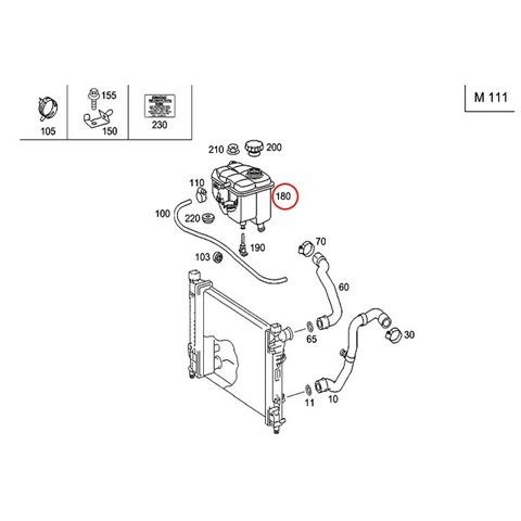 URO製 ベンツ ラジエーターサブタンク