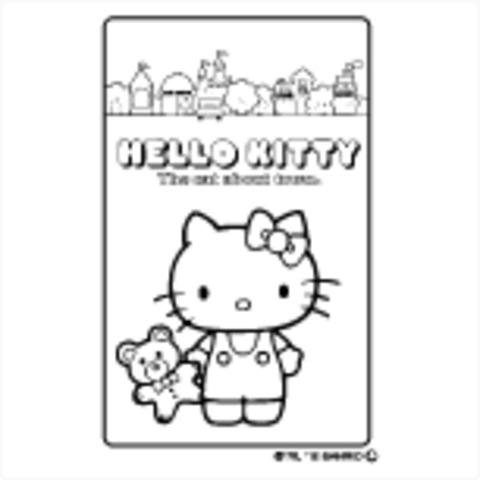 イラストスタンプ:ぬりえ キティ SFT-RLLH06 (サンリオ)