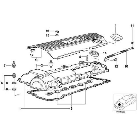 シリンダーヘッドカバーガスケット タペットカバーパッキン < BMWパーツ専門プロテックオートショップ