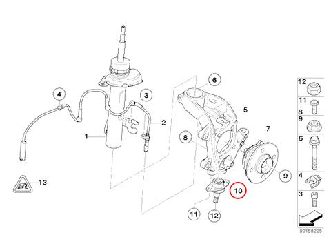 [6ヶ月保証] BMW MINI R50 R52 R53 クーパー クーパーS ワン ナックル ボールジョイント 左右セット 新品 31126783443 Cooper One 1.4i 1.6i