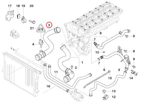 BMW E39 ラジエーターホース/ロアホース 11531705224 E39 520i 523i 525i 528i 530i E38 728i 728iL