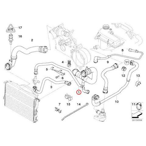 BMW E39 ラジエーターホース ラジエーターアッパーホース 11537505228 11531711321 540i