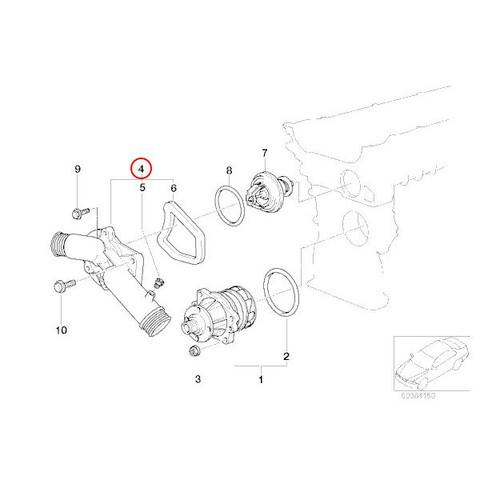 BMW E39 E38 サーモスタットハウジング/コネクションフランジ 新品 11531740478