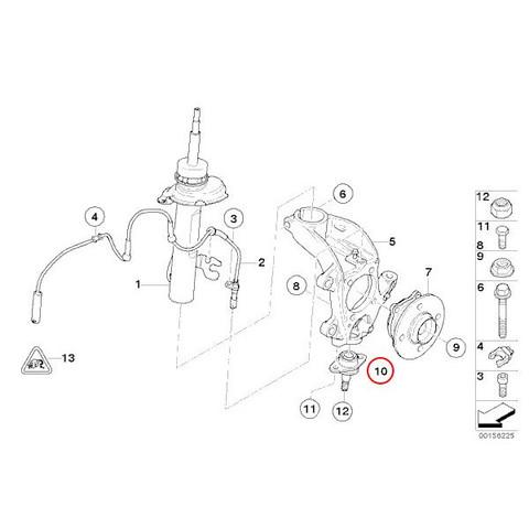 [6ヶ月保証] BMW MINI R50 R52 R53 クーパー クーパーS ワン ナックル ボールジョイント 新品 31126783443