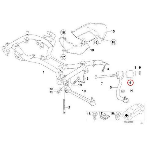BMW E38 プルストラットアーム/スラストロッド/アッパーアーム ブッシュ 左右 2個セット 31129071085 31120006482 735i 750iL L7