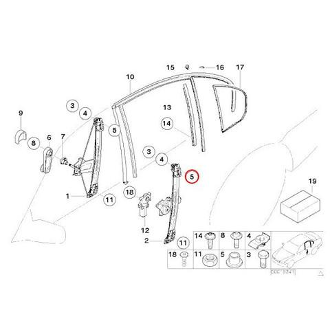6ヶ月保証付 BMW E46 パワーウインドウレギュレーター モータ付き 右リア/リヤ 新品 51358212100 318i 320i 323i 325i 328i