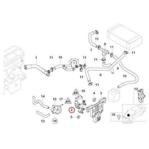 純正 BMW 3シリーズ E46 ウォーターバルブ/ヒーターバルブ 64118369805 318i 320i 323i 325i 328i 330i M3CSL