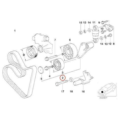 BMW E34 E38 E32 E31 アイドラプーリー/アイドルプーリー/テンションプーリー/ガイドプーリー/テンショナープーリー 11281736724