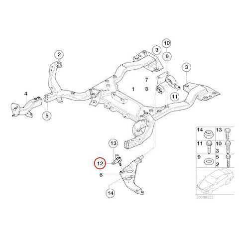 MEYLE製 BMW MINI R50 R52 R53 ミニ コントロールアーム/ロアアーム ボールジョイント左側 31106779437