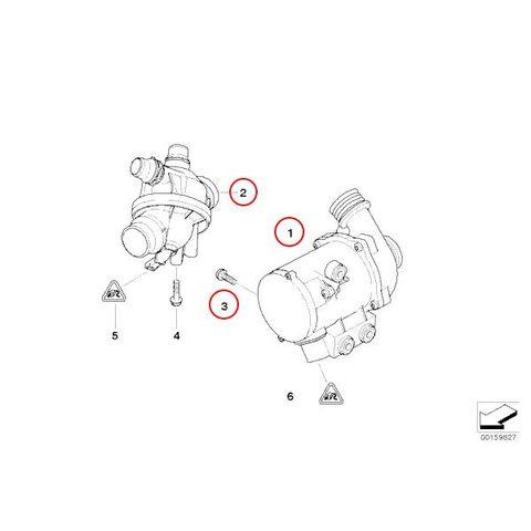 BMW E87 電動ウォーターポンプ&ボルト&サーモスタット97℃ 702851208 11517546994 11510392553 11537549476 130i