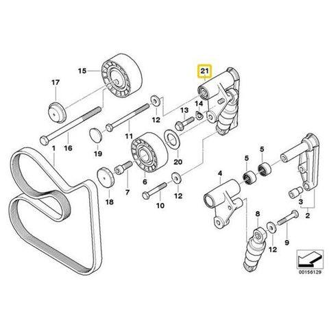 INA製 純正OEM BMW E46 E39 E60 X3 X5 Z4 E36 E85 E83 E53 ベルトテンショナー 油圧式ASSY 11287838797 11281717188 55043