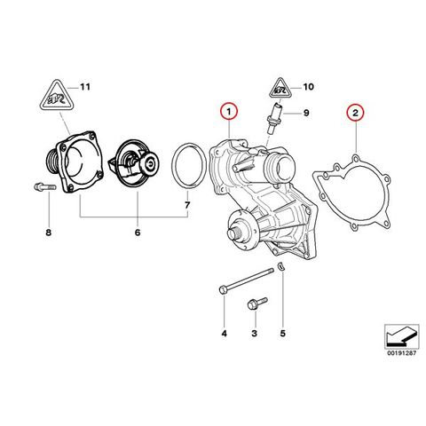 [6ヶ月保証] GRAF製 BMW 7シリーズ E38 セダン ウォーターポンプ M62 V8エンジン ガスケット付き 11510393336 PA856 735i 740i