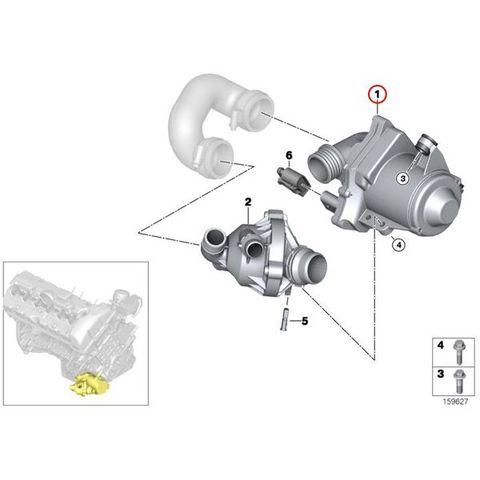 VDO製 BMW 6シリーズ F13 電気式ウォーターポンプ N54 N54T N55 直6エンジン A2C59514607 11517588885 11517632426 640i