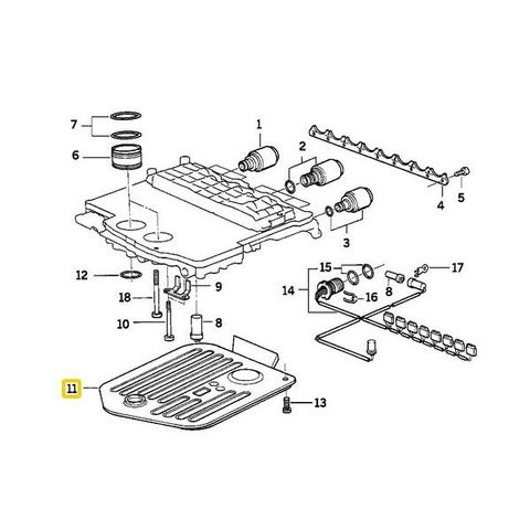 純正OEM Febi製 BMW E34 E39 E32 E38 オートマオイルフィルター/ATフィルター 12671 24341422419 540i 740i 750iL