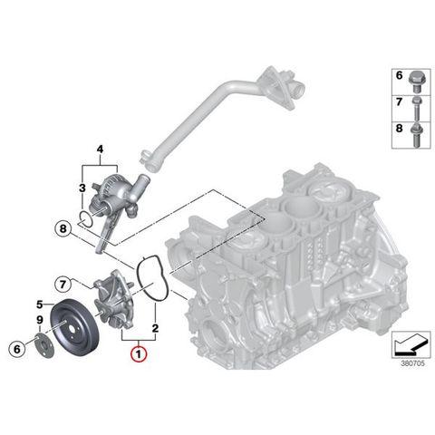 [6ヶ月保証]GRAF製 BMW MINI ミニ ウォーターポンプ N12 N14 N16 N18 エンジン用 ガスケット付き 11518604888 11517550484 11517648827