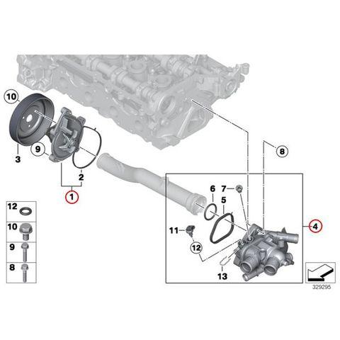BMW MINI ミニ R56 R55 R57 R58 R59 R60 ウォーターポンプ&サーモスタット 11518604888 11517550484 11517648827 11537534521