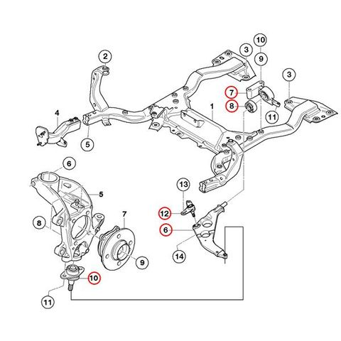 BMW MINI R50 R52 R53 フロントロアアーム/コントロールアーム左右 フルセット 31126761409 31126761410 3112675756 31106779438