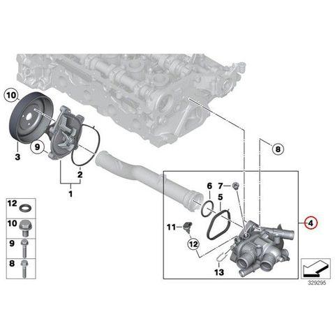 BMW MINI R56 R55 R57 R58 R59 R60 ミニ サーモスタット/サーモスタッド 11537534521
