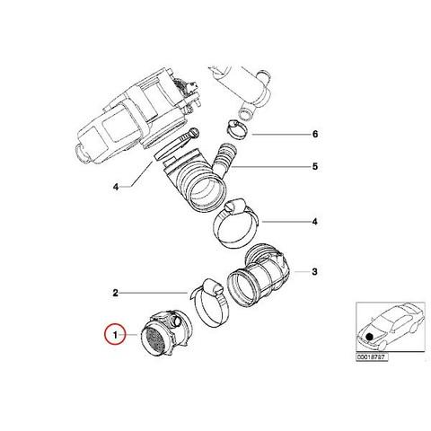 TPI-TRUEPARTS製 BMW Z3(E36) エアマスセンサー M52 M54エンジン 13621432356 5WK96050Z 2.0 2.2i 2.8