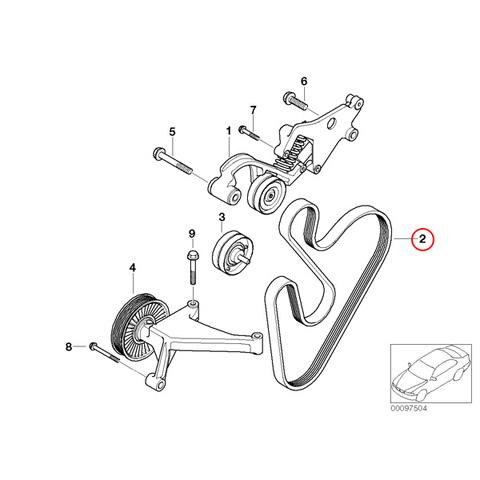 Continental製 BMW MINI R53 R52 ファンベルト/Vベルト W11 直4 エンジン用 6PK1388 11287520199 CooperS クーパーS