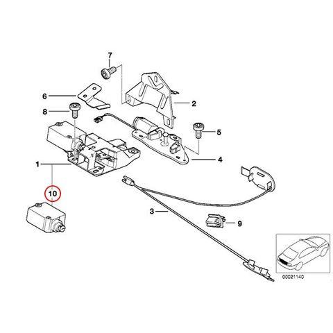 純正OEM VDO製 BMW E39 5シリーズ トランクロックアクチュエーター 4ピンタイプ 67118368196 406205012001V 525i 528i 540i 530i