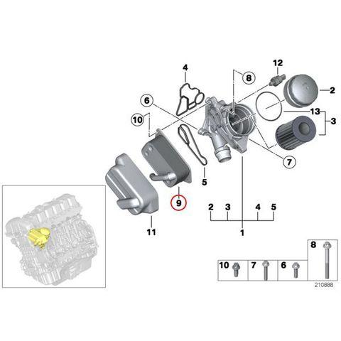 BMW F30 F31 F34 E90 E91 E92 エンジンオイルクーラー 11427525333 N52 N52N N53 N54 N55 N20 320i 328i 323i 325i