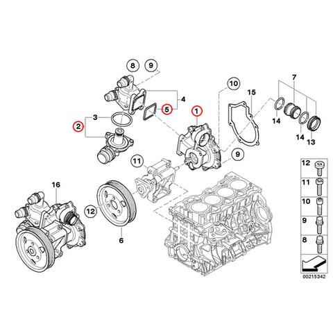 BMW ウォーターポンプ&サーモスタット