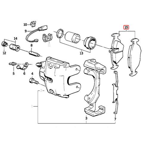 febi bilstein製 BMW 6シリーズ E24 フロント ブレーキパッド 34111159416 34111161717 34111157510 34111159415 635CSi
