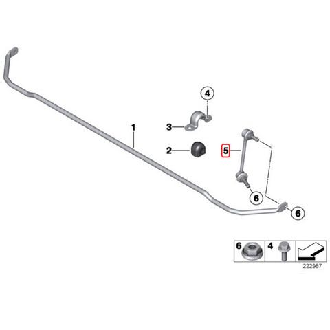 Febi製 BMW MINI ミニ R57 R55 R58 R59 リア/リヤ スタビライザーリンク 左右セット 33506772789 クーパー クーパーS JCW