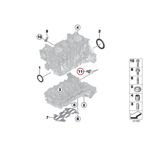 FAE製 BMW 1シリーズ F20 クランクカクセンサー/クランクシャフトセンサー N13 直4 13627561753 79287 116i 118i 120i