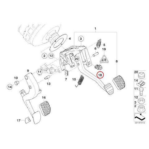 全国送料200円 febi bilstein製 BMW 7シリーズ E38 ブレーキストップランプスイッチ 61316967601 37596 735i 740i 750iL L7