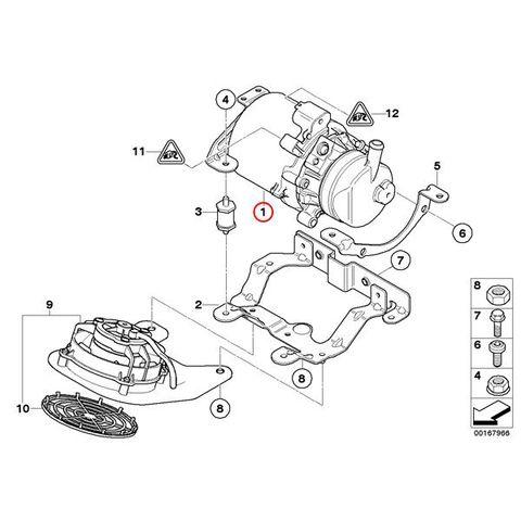 ZF製 BMW MINI ミニ R50 R53 R52 電動パワステポンプ/パワーステアリングポンプ 32416778425 7625955146