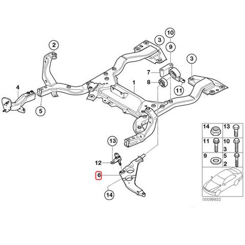 純正OEM LEMFORDER製 BMW MINI ミニ R50 R52 R53 フロント ロアアーム/コントロールアーム 左側 31126761409 ワン One 1.6i クーパー Cooper
