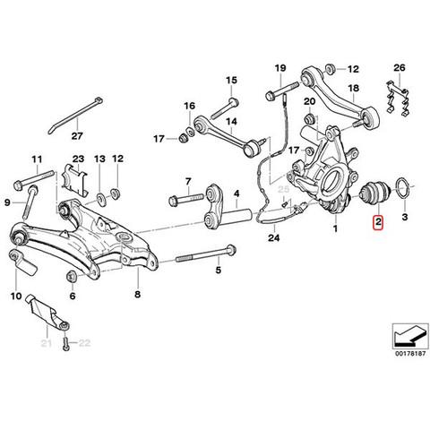 純正OEM LEMFORDER BMW 6シリーズ E63 E64 リア ホイールキャリア ボールジョイント 左右セット 33326767748 630i 645Ci 650i