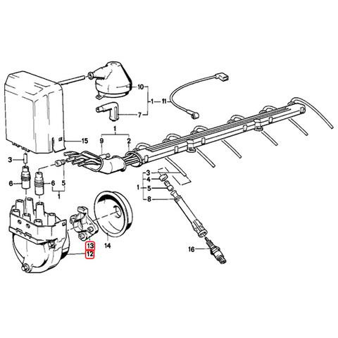 BREMI製 BMW 6シリーズ E24 ディストリビューターキャップ&ローター 12111725070 1235522365 12111734110 12111284446 635CSi