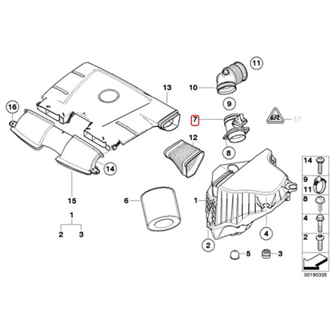Pierburg製 BMW  E90 E91 E92 E93 エアマスセンサー/エアフロメーター 新品 722684120 13627531702 13627566989