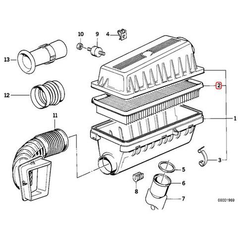 BMW 7シリーズ E32 エアフィルター/エアエレメント M30 直6エンジン 13721707021 stk146 730i 735i 735iL