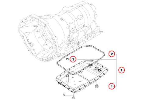 ZF製 BMW 7シリーズ F01 F02 ATオイルパン オイルフィルター付き/オイルフィルター 一体型ATオイルパン 24117571217 24152333907 740i 740Li