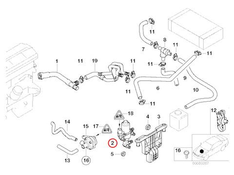 BMW Xモデル X3/E83 ウォーターバルブ/ヒーターバルブ 64118369805 2.5i 3.0i