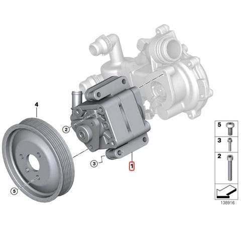 ZFLS製 BMW Xモデル X1/E84 パワステポンプ/パワーステアリングポンプ/ハイドロリックポンプ 32416780413 sDrive18i