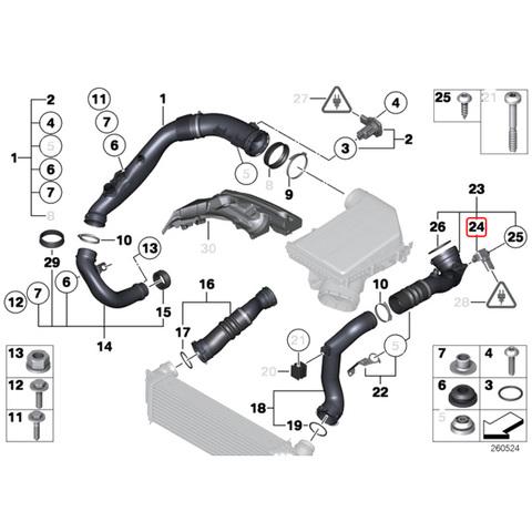 純正OEM HELLA製 BMW  F07 F10 F11 ブーストプレッシャーセンサー 13627551429 13627585493 535i 550i 535ixDrive 550ixDrive