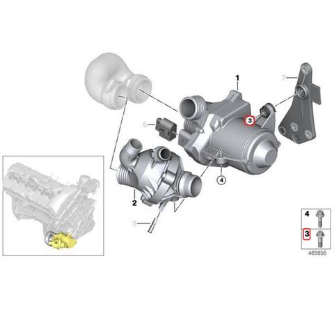 [優良品]BMW E60/E60E61F10F11電気式ウォーターポンプ用アルミボルト3本セットN52N53N54直6 11510392553 stk102 525i530i530xi523i528i