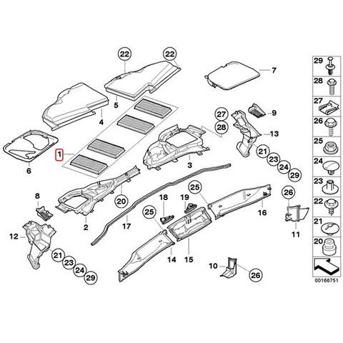 純正OEM MANN製 BMW 3シリーズ E90 E92 エアコンフィルター/ACフィルター 活性炭入り 4枚セットCUK22008-4 64319159606 M3