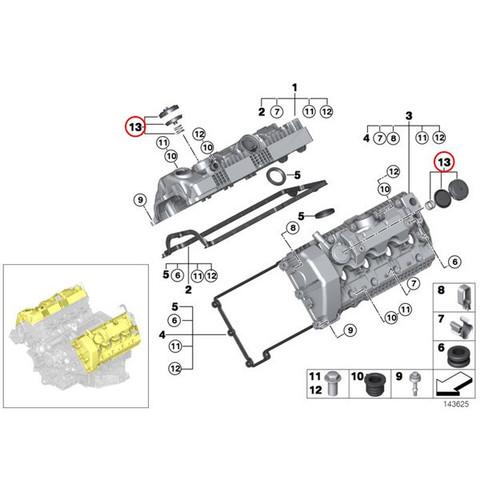全国送料200円 BMW 6シリーズ E63 E64 シリンダーヘッドオイルキャップ/プレッシャーコントロールバルブ 11127547058 645Ci 650i