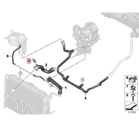 BMW テンプセンサー/水温センサー