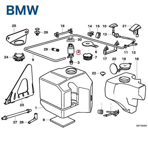 BMWMINIミニR56R55R57R58R59ウィンドウウォッシャーポンプ26259 2048660221 67128377987 JCWCooperCooperSOne