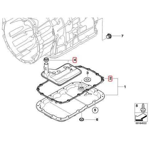 BMW X3/E83 ATフィルター/オートマミッションオイルストレーナー&ガスケット 24117593565 24117572618 2.5si/xDrive25i 3.0si/xDrive30i