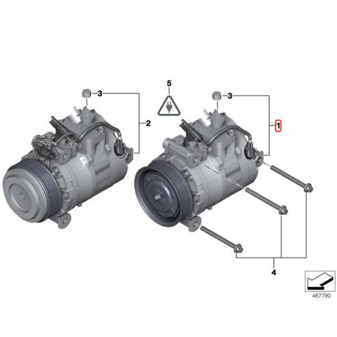 純正OEM DENSO製 BMW Xモデル X1/E84 ACコンプレッサー /エアコンコンプレッサー 64529122618 xDrive25i
