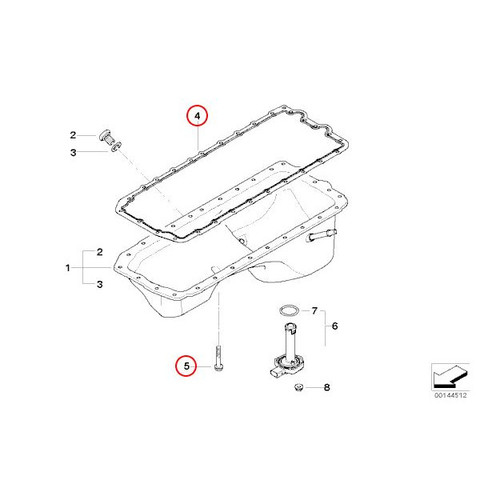 BMW1シリーズE82E87エンジンオイルパンガスケットボルト付11137548031 11132210959 713866900 545840 135i130i