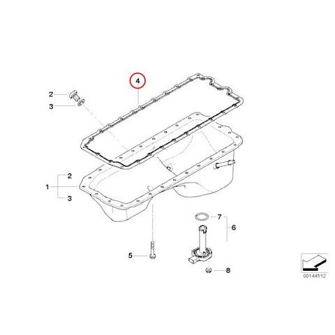 BMW1シリーズE82E87エンジンオイルパンガスケット11137548031 713866900 545840 135i130i